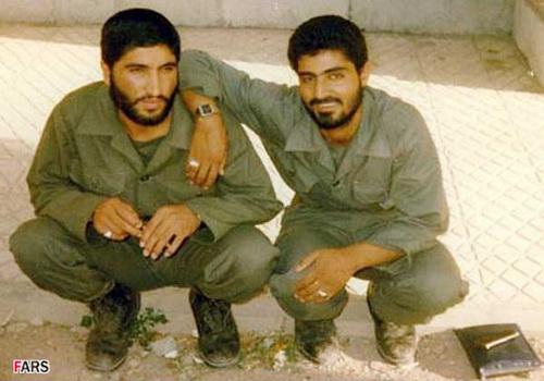 سردار قاسم سلیمانی در کنار شهید کاظمی
